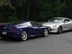 Ferrari 360 Modena and 2009 Nissan GT-R